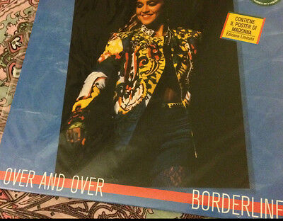 Madonna Over And Over/ Bordeline  12' Inch Rare 100 Copies Limited Yellow