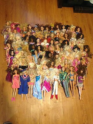 Mattel Barbie Dolls 70-80-90 2000 Lot Of 82 With Clothes