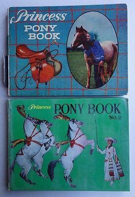 Princess Comic Pony Book #1 and #2 (1962/1963) GD- VG (phil-comics)