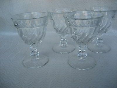 """Fabulous Set of 4 Fostoria Colony Water Goblets 5 1/4"""" X 3 5/8"""" Wide"""