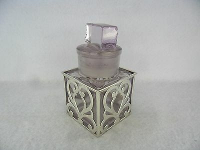 William Comyns Solid Silver Mounted Perfume Bottle, London 1902