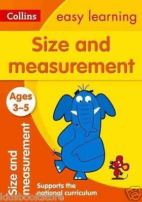 Collins Easy Learning Book - SIZE AND MEASUREMENT - AGES 3-5,  AGE 3-5 - NEW