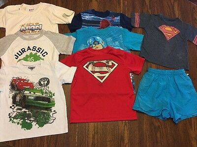 Lot Of 8 Boys Shirts And Trunks Size 5T