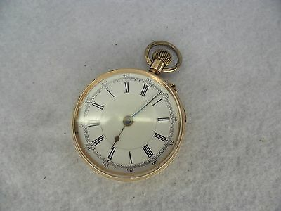 9ct Gold Gents Pocket Watch In Good Working Order