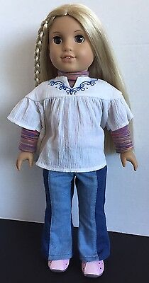 American Girl Doll JULIE ALBRIGHT 2008 Retired in Original Outfit VGUC