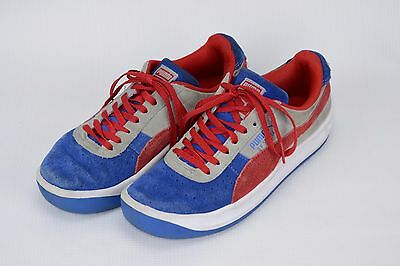 fc6bb9b5c31 Mens Puma GV Special Size 4 Red White Blue Suede Tennis Athletic Shoes Boys