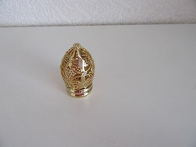 """Vintage   Gold  Decorative Egg on Stand  3"""" Tall"""
