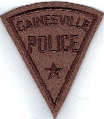 GAINESVILLE POLICE patch FELT & CHEESECLOTH BACK!
