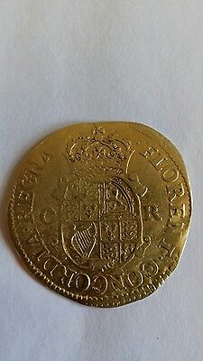 king Charles the 2nd hammered gold coin, 1st issue double crown