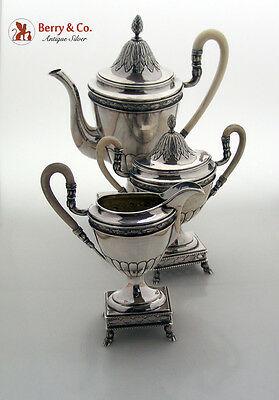 Coffee Set French Style Sterling Silver 1820 Austrian Import 1910