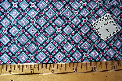 Vtg 40/'s Cotton Percale Dress Applique Quilt Fabric 35w 36w Teeny Red Squares