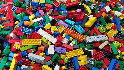 LEGO Bulk Lot of 100 Mixed Building Brick Pieces in Assorted Colors