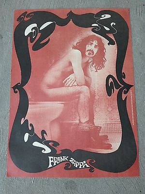 FRANK ZAPPA ORIGINAL 1st ISSUE 1967 POSTER TOILET WC DALE FOR OSIRIS