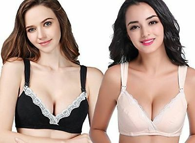 CAKYE Women's Underwire Maternity Nursing Bra 2PCs