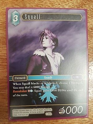 Final Fantasy Tcg Opus 1 Squall 1-041L Legend Card