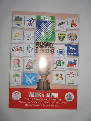 Wales v Japan. Rugby Union World Cup 1999.