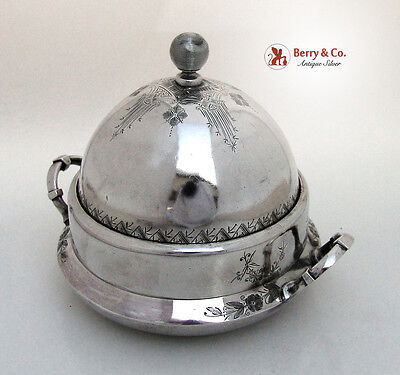 Covered Cheese Dish Wood And Hughes Sterling Silver 1870