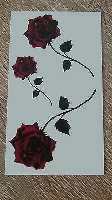 10x6cm Sheet-High-Quality-Fake-Tatto-Party-Red-Roses-Waterproof-Temporary