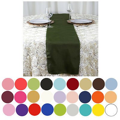 """5PCS Polyester Runner - Table Top Wedding Catering Party Decorations - 12x108"""""""