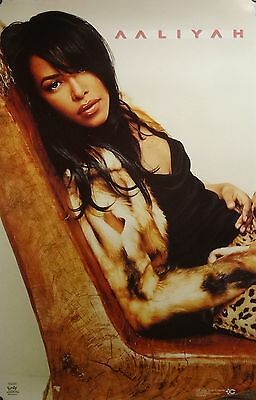 Aaliyah 23x35 Sexy Leopard Print Poster 2002