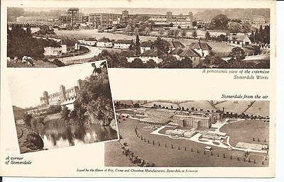 Original pc advertising Fry's Chocolate; A corner of Somerdale and Aerial View