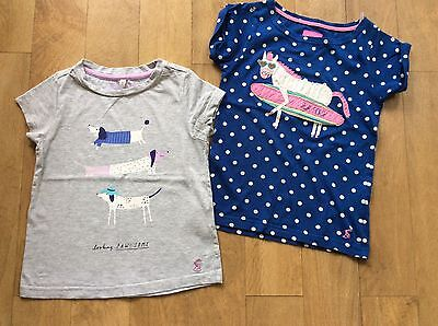 Joules girls t-shirts, set of 2, age 5-6