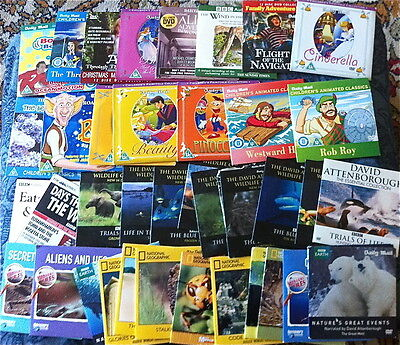 Joblot Promo Childrens / Wildlife Dvds - Approximately 40