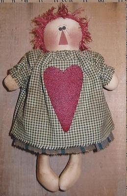 PATTERN-PRIMITIVE ANNIE WITH HEART-SWEET LITTLE ONE by PRIM RAGGS