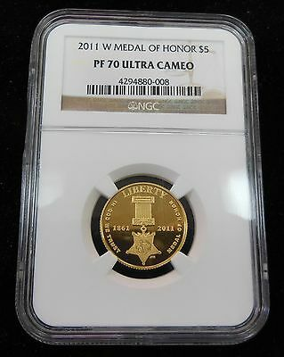 2011-W Medal of Honor $5 Gold Comm NGC PF70 Ultra Cameo 4294880-008