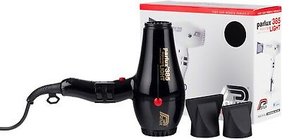Parlux 385 Professional BLACK Hair Dryer Powerlight Ceramic Ionic- Black New