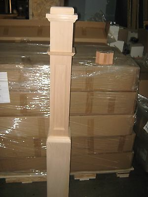 LJ SMITH HEMLOCK STAIRCASE 6 1/4 X 55 NEWEL POST # 4091 + MOUNTING BL - NEWnBOX