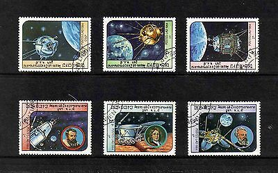Laos 1984 Space Exploration/ Kepler/ Newton/ Verne short set of 6 values used