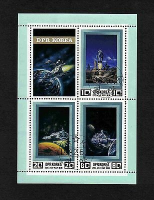 Korea 1982 Space/ THe Universe complete set of 3 values + label (sheetlet) used