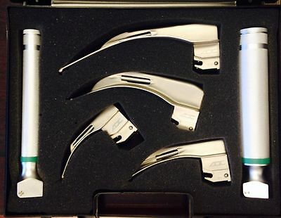ADC Laryngoscope Set, Macintosh, Fiber Optic 4079F W/Case