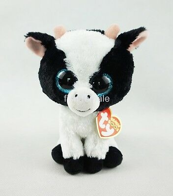 "6"" Ty Beanie Boos Butter Cow Reg 2017 New Glitter Eyes Plush Stuffed Animals Toy"