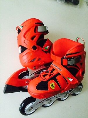 Adjustable Skate In Line Roller en Ligne Ferrari 35 36 37 38 Enfant ABEC7