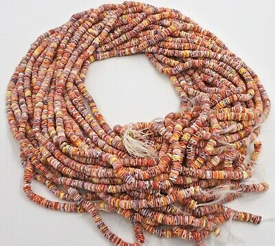 Multicolored Pectin Shell Heishi Beads 5-6 mm  24 Inches Strand)