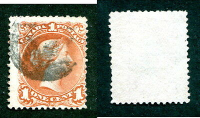 Used Canada 1c Queen Victoria Large Queen Stamp #22 (Lot #13087)
