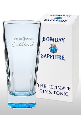 Bombay Sapphire Collins Gin Glass New & Gift Boxed