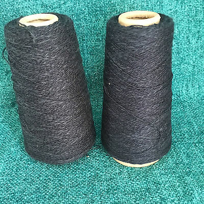 Yeoman Yarns Sari Linen Cotton Cone Navy on 2 Cones 3 ply 363g