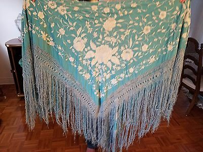 Silk Shawl from 1920's, 5 X5 in new condition