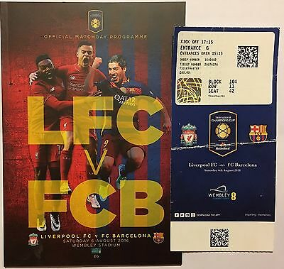 Liverpool Vs Barcelona  Programme And Ticket 6/8/16 International Champions Cup