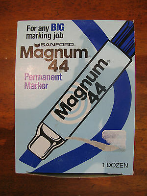 VIintage Sanford Magnum 44 Permanent Marker NOS with box Lot of 5