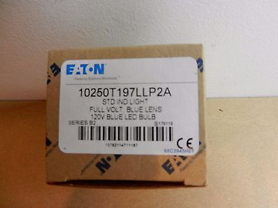 Eaton 10250T197LLP2A 10250T 30.5mm 120V LED Pilot Light w/ Blue Lens Cover