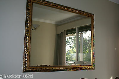 Large framed wall or mantle mirror ~ Suit antique style decor