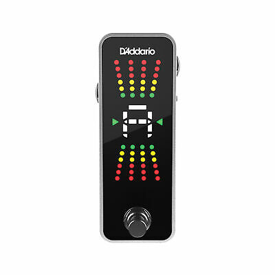D'Addario PW‑CT‑20 Chromatic Pedal Guitar Bass Instrument Tuner True Bypass