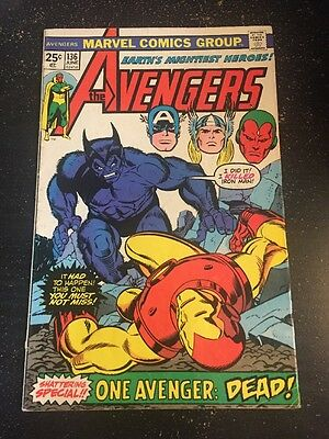 Avengers#136 Awesome Condition 7.0(1975) Gil Kane Cover!!