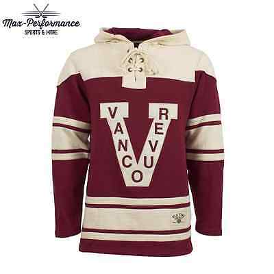 Vancouver Millionaires Old Time Hockey Lacer Jersey Hoodie! Official NHL Canucks