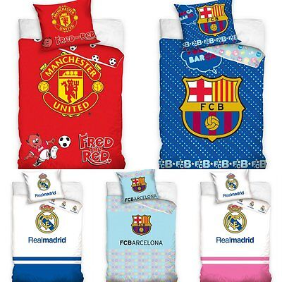 Official Football Duvet Quilt Cover Bedding Set For Junior Toddler Cot Bed Boys