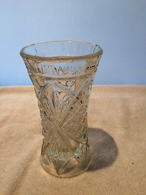 vintage cut glass celery vase (2)